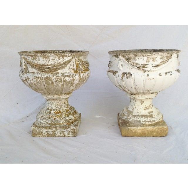 Concrete Garden Urns - A Pair - Image 2 of 4
