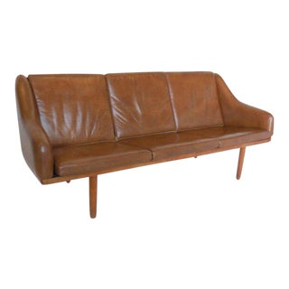 Danish Leather Sofa by Poul Volther For Sale