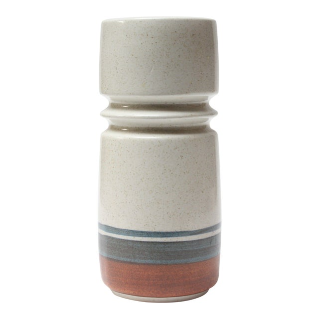 Mid Century Israeli Modern Large Stoneware Vase by Esther for Lapid For Sale