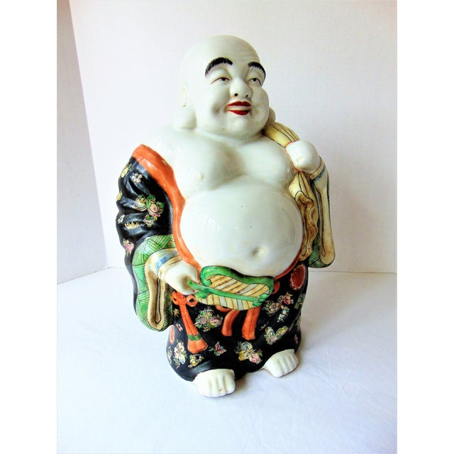 Well, you're in luck! I have a buddha that's guaranteed to bring good luck to you. Just rub his belly and wish away! He is...