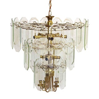 Hollywood Regency Tiered Wedding Cake Chandelier For Sale