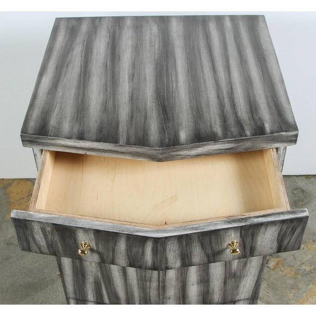 Wood Customizable Paul Marra Pinnacle Nightstand in Zebra Finish For Sale - Image 7 of 9