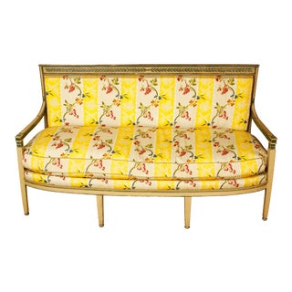 Late 19th Century Directoire Settee For Sale