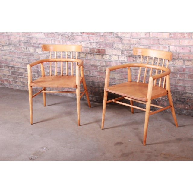 Planner Group Paul McCobb Planner Group Solid Maple Spindle Back Armchairs - a Pair For Sale - Image 4 of 13