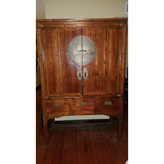 Rosewood Asian Armoire Cabinet - Chino, Ca - Image 2 of 11