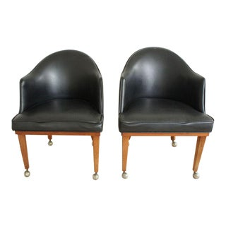 Mid-Century Rolling Armchairs- A Pair For Sale