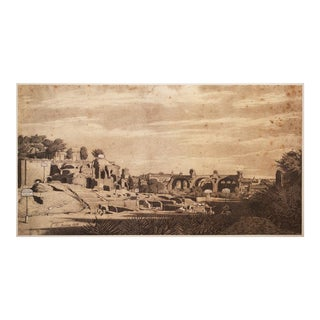 Rare 1959 the Forum Romanum by Ingres Lithograph For Sale