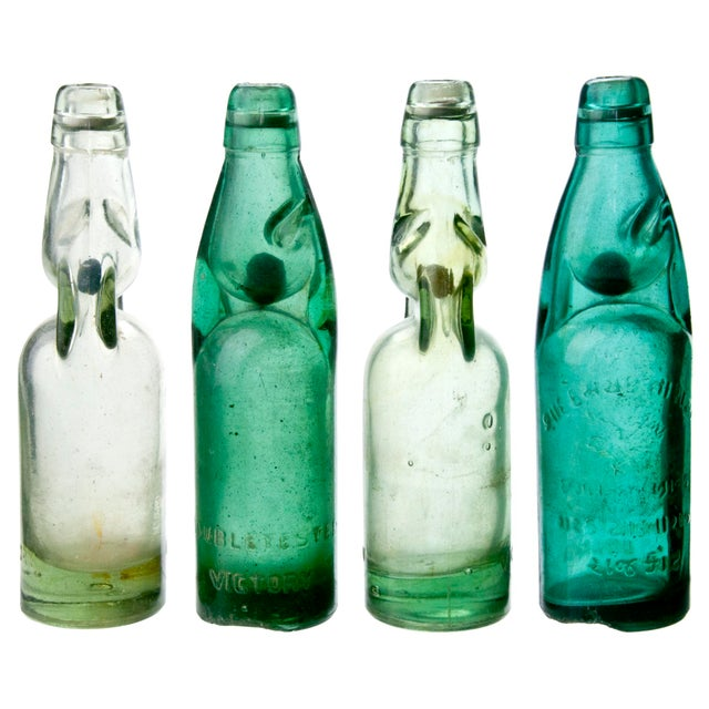 Vintage Street Vendor Soda Bottles - Set of 4 - Image 2 of 2