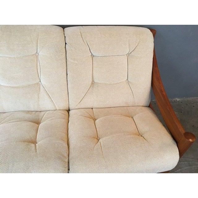 Cotton Domino Mobler Danish Modern Teak Sofa For Sale - Image 7 of 9