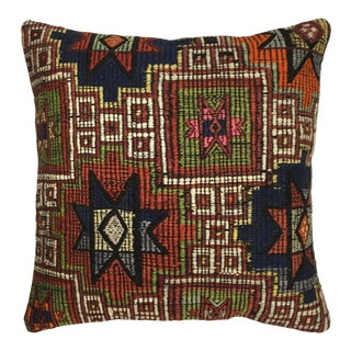 "Rug & Relic Geometric Kilim Pillow | 20"" For Sale"