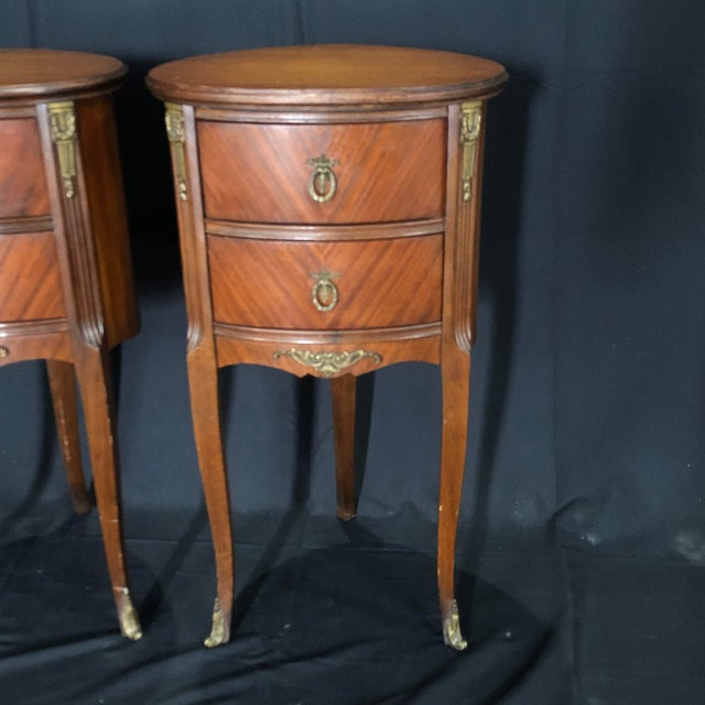 French French Louis XV Style Nightstands -A Pair For Sale - Image 3 of 12