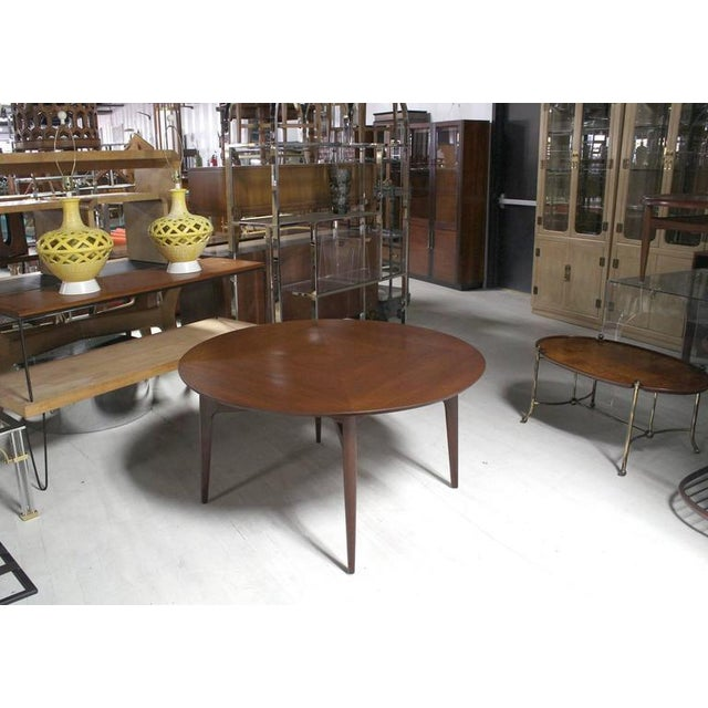 Mid 20th Century Vintage Mid Century Danish Modern Teak Round Game Table For Sale - Image 5 of 7