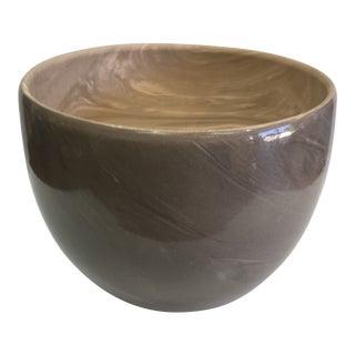 Contemporary Swirl Design Decorative Bowl For Sale