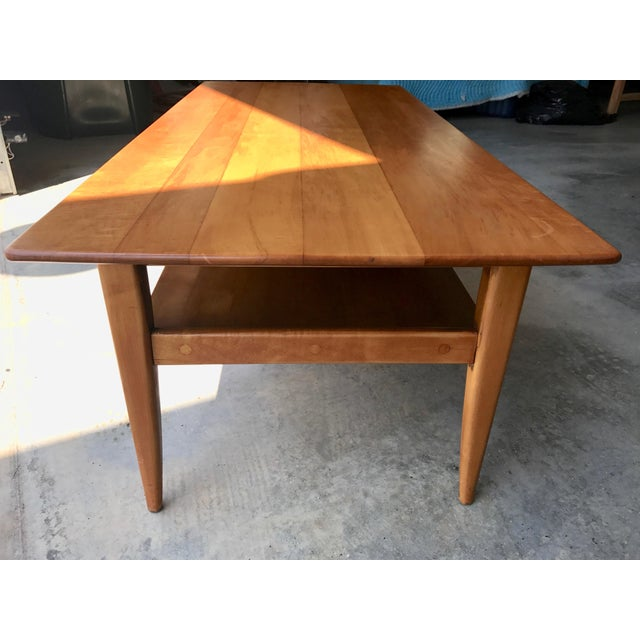 Maple Mid-Century Two Level Maple Coffee Table For Sale - Image 7 of 8