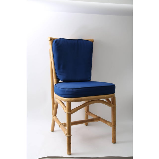 Late 20th Century Set of Four Bamboo Side Chairs For Sale - Image 5 of 13