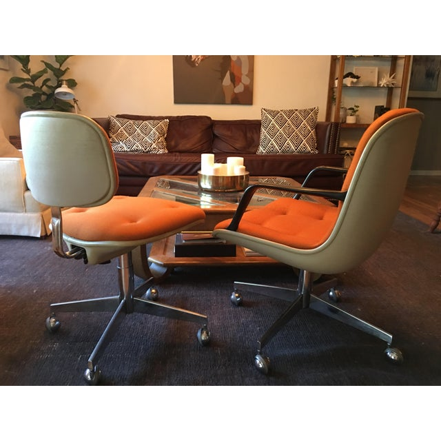 Vintage Steelcase Office Chairs - A Pair For Sale - Image 4 of 7