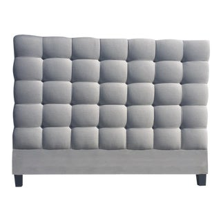 "Custom to Order ""Bedoir Faire"" Collection Headboard Menswear Hues For Sale"