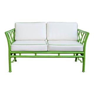 Vintage Meadowcraft Faux Bamboo Sofa For Sale