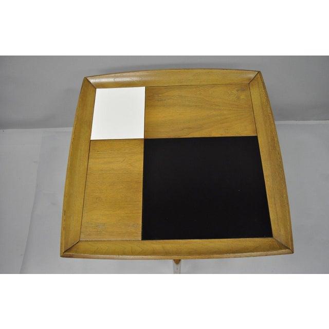 John Keal John Keal Brown Saltman Mid-Century Danish Modern Sculptural Walnut Side Table For Sale - Image 4 of 12