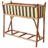 Image of French Maison Gatti Bamboo Rattan Jardinière Planter For Sale