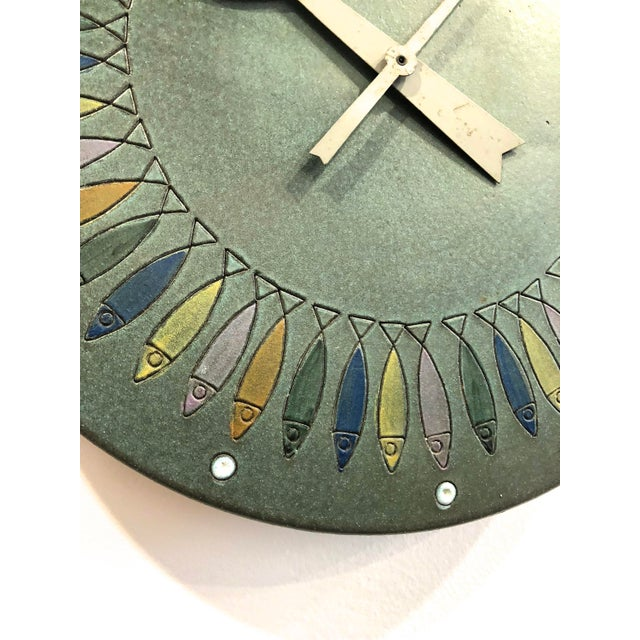 Rare Bitossi Fish Meridian Clock, 1960's For Sale In Detroit - Image 6 of 9