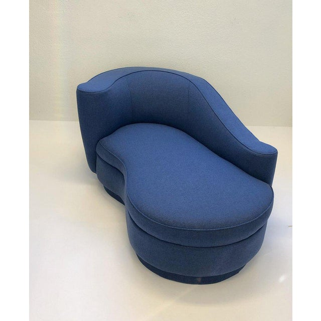 Fabric Rare Corkscrew Chaise Lounge Attributed to Vladimir Kagan For Sale - Image 7 of 9