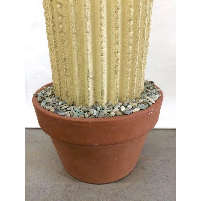 Mid-Century Concrete Cactus Sculpture - Image 7 of 7