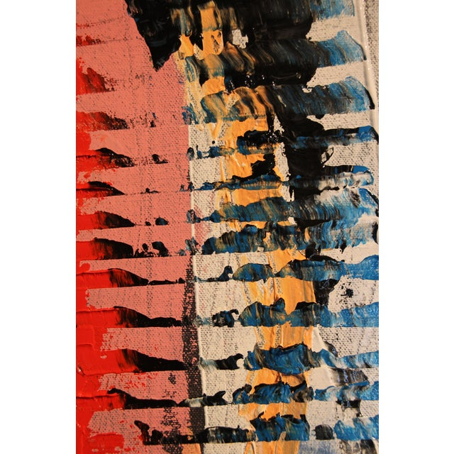 "Abstract ""Blink"" Abstract Acrylic Painting For Sale - Image 3 of 9"