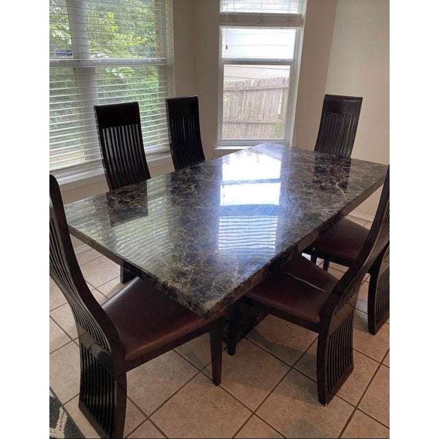 Maurice Villency Style Marble Dining Table For Sale - Image 12 of 13