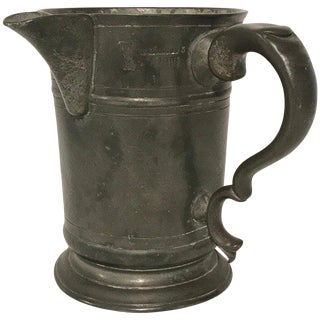 Georgian Pewter Measure From the Hope Inn, by Edward J Wilderness Row For Sale
