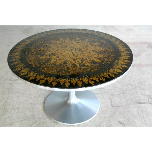 Mid-Century Modern Poul Cadovius 1960's Dining Table in Aluminum Decorated by Susanne Fjeldsøe For Sale - Image 3 of 8