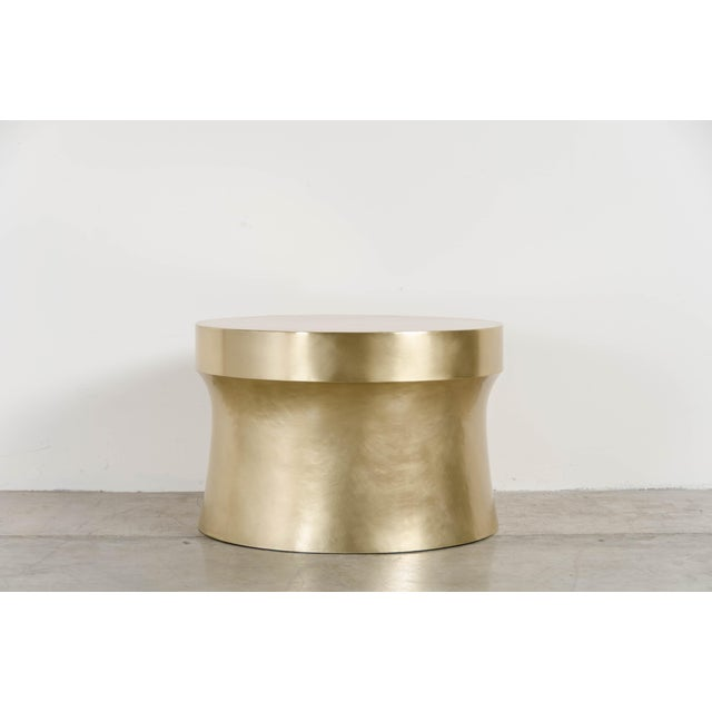 Dong Shan table Brass Hand Repousse Limited edition Each piece is individually crafted and is unique. Repousse´ is the...