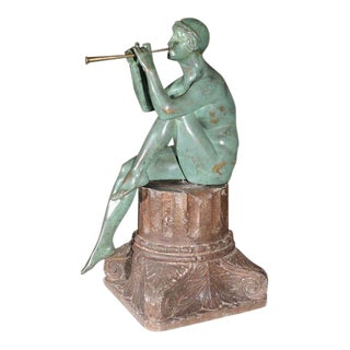 Art Deco Bronze Sculpture by Maurice Guiraud Riviere For Sale