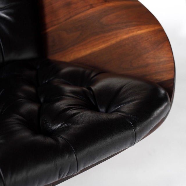 1960s Vintage 1st Edition Mr Chair by George Mulhauser for Plycraft Leather Lounge Chair For Sale - Image 9 of 12