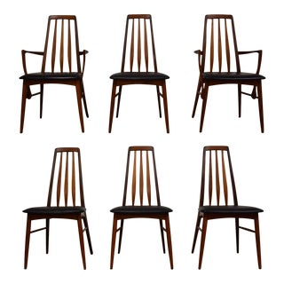 Kofoeds Hornslet Teak Eva Dining Chairs- Set of 6