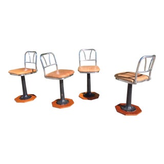 Newly Upholstered Ice Cream Parlor Stools (1930's) For Sale