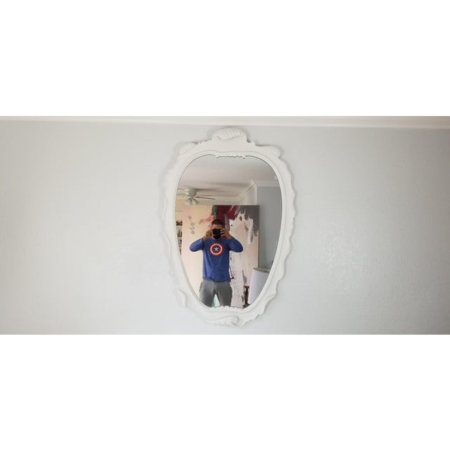 White Italian Dorothy Draper Style Wall Mirror For Sale - Image 8 of 9