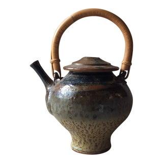 Vintage Mid-Century Japanese Art Pottery Teapot For Sale