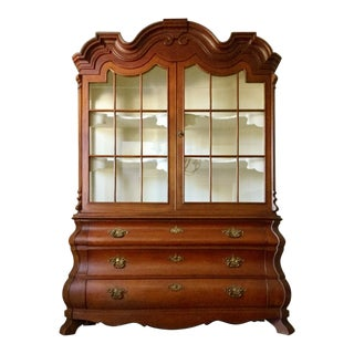 1960s Traditional Henredon Dorothy Draper China Display Cabinet For Sale