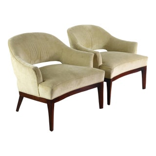 1960s Saber-Leg Lounge Chairs by Harvey Probber - a Pair For Sale