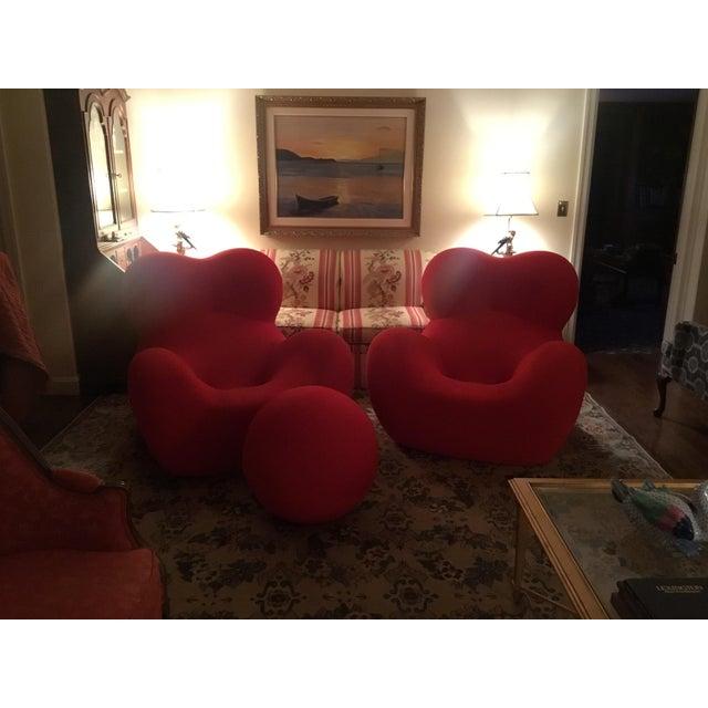 Italian B&b Italia Up Series 2000 Gaetano Pesce Chairs & Ottoman - Set of 3 For Sale - Image 3 of 13
