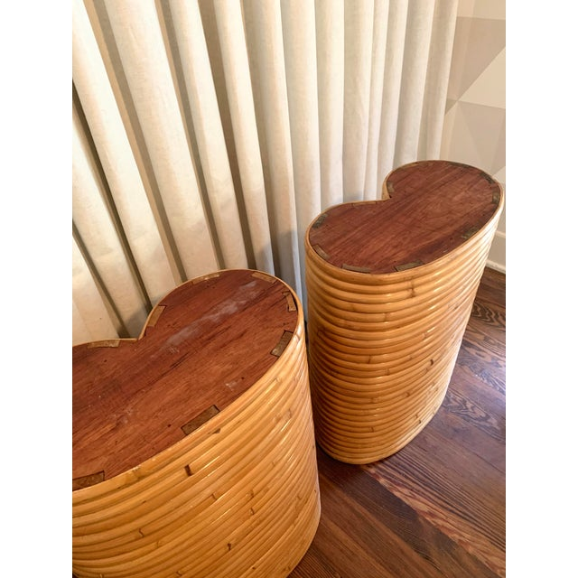 Boho Chic Bamboo Table Bases - a Pair For Sale - Image 4 of 5