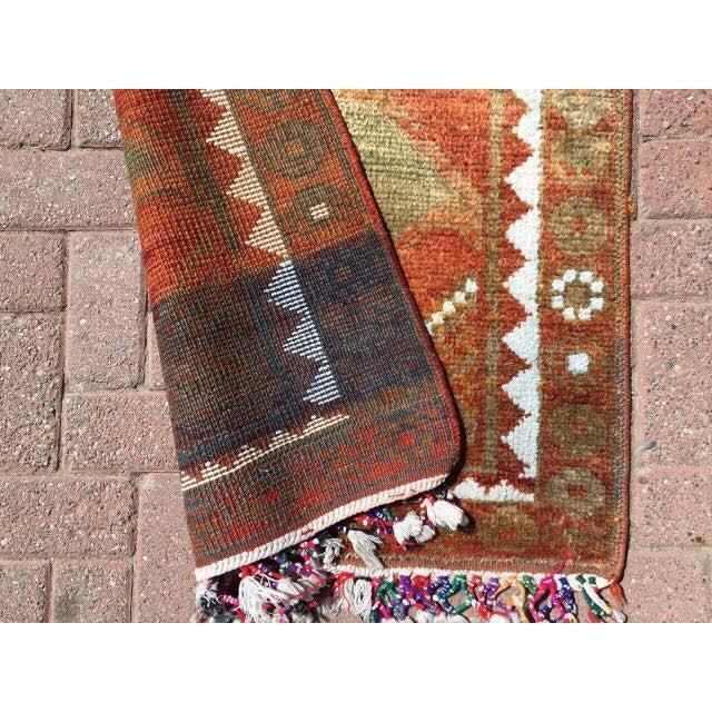 Textile Vintage Turkish Runner Rug - 3′ × 11′11″ For Sale - Image 7 of 7