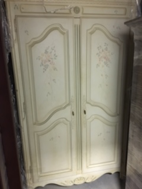 Attirant Hand Painted French Country Armoire By Ethan Allen   Image 2 Of 5