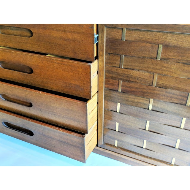 Harvey Probber Woven Front Credenza Sideboard - Image 5 of 10