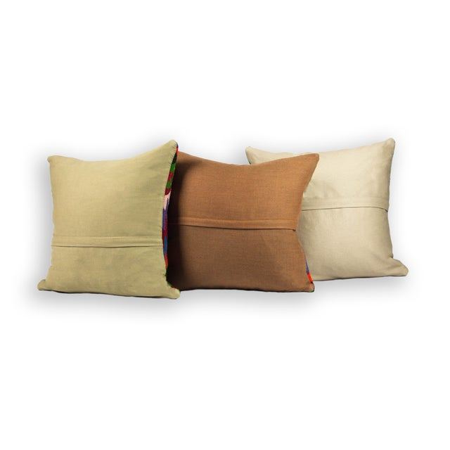 Bright Kilim Pillows - Set of 3 - Image 2 of 2