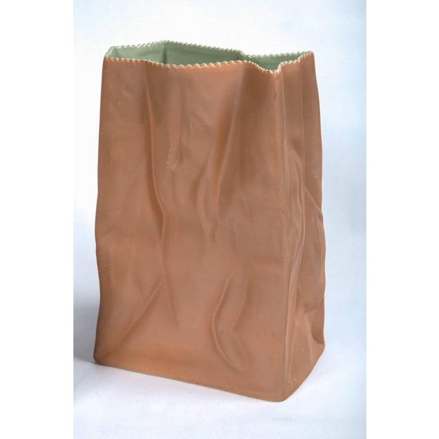 Modern Vintage Paper Bag Vases by Tapio Wirkkala, Rosenthal, Finland, Circa 1970s For Sale - Image 3 of 11