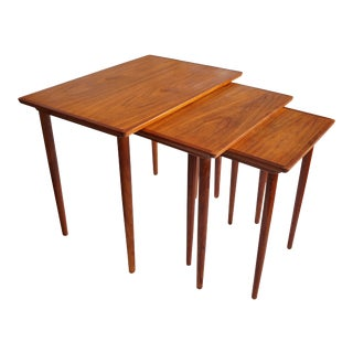Bramin Danish Teak Nesting Tables - Set of 3