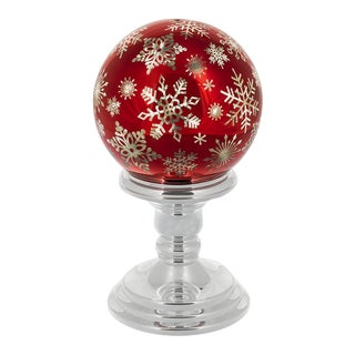 Kenneth Ludwig Twinkle Snowflake Ball on Stand For Sale