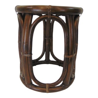 McGuire Mid Century Bamboo Side Table For Sale